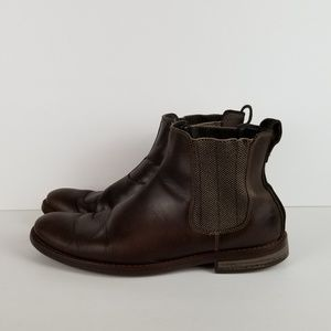 Rockport Wynstin Brown Leather Chelsea Boots Sz 10